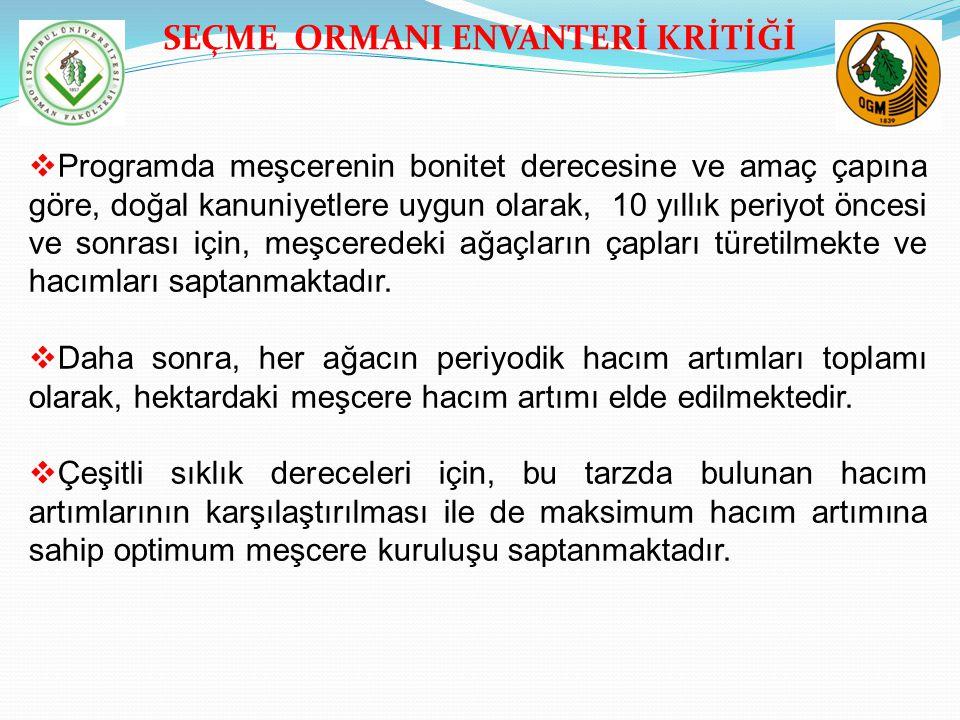 SEÇME ORMANI ENVANTERİ KRİTİĞİ 5.