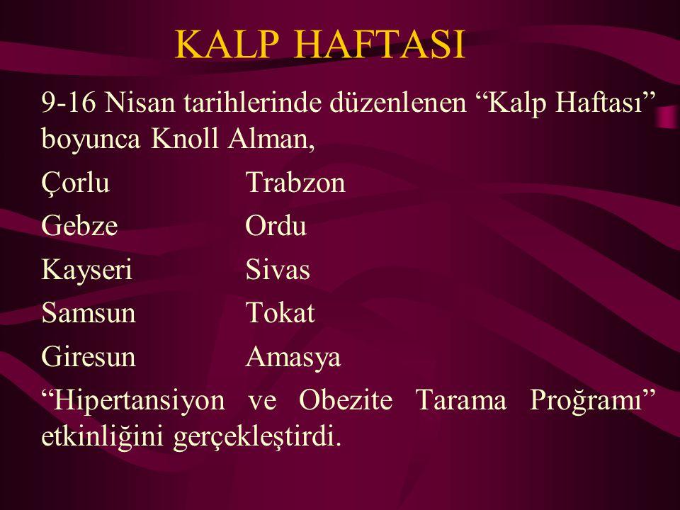 KALP HAFTASI Yerel Belediyeler İl Sağlık Müdürlükleri İşbirliği ile...