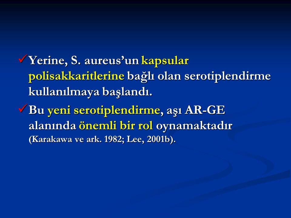 Yerine, S. aureus'un kapsular polisakkaritlerine bağlı olan serotiplendirme kullanılmaya başlandı. Yerine, S. aureus'un kapsular polisakkaritlerine ba