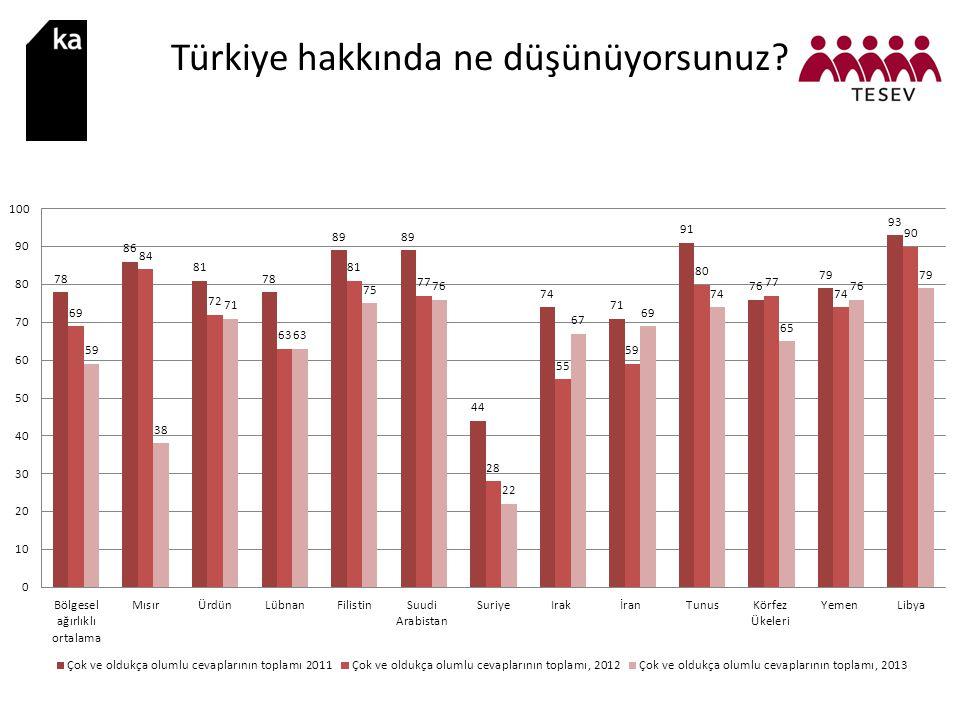 Türkiye hakkında ne düşünüyorsunuz?