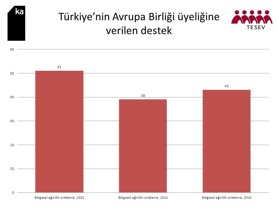 Türkiye'nin Avrupa Birliği üyeliğine verilen destek