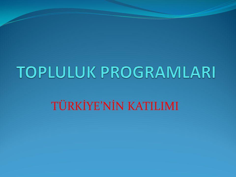 TÜRKİYE'NİN KATILIMI