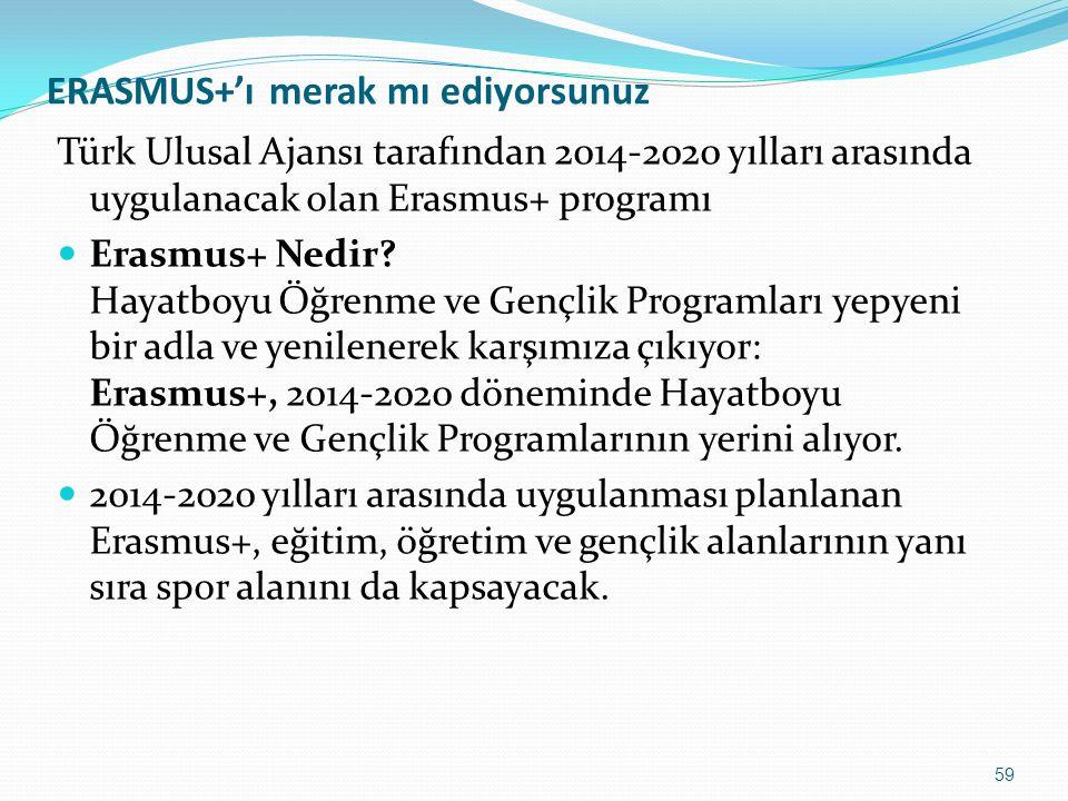 ERASMUS+'ı merak mı ediyorsunuz Türk Ulusal Ajansı tarafından 2014-2020 yılları arasında uygulanacak olan Erasmus+ programı Erasmus+ Nedir? Hayatboyu