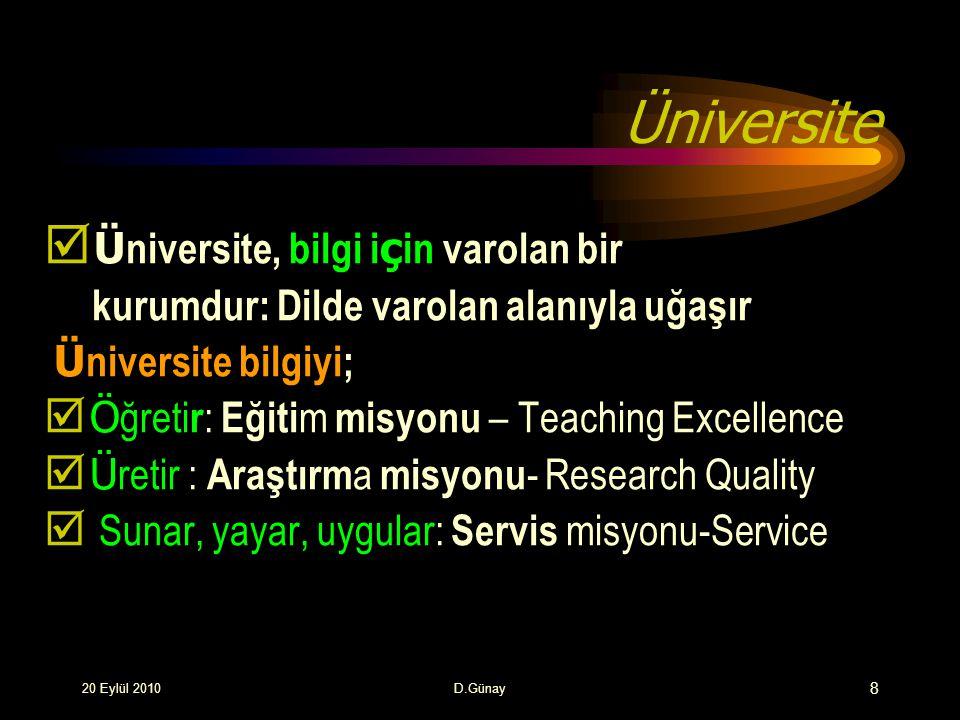 Üniversitenin Araştırma Misyonu  Bir problemin ortaya konulması, hipotez ileri sürülmesi, hipotezin sınanması araştırma faaliyeti içerisinde sürdürülür.