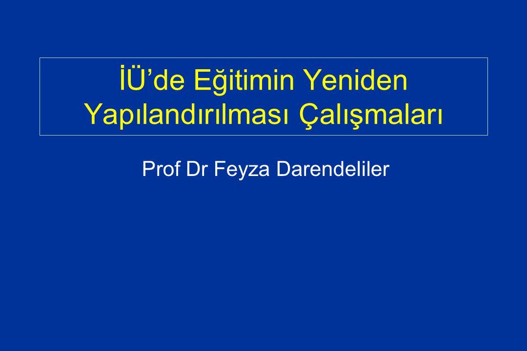 İÜ'de Eğitimin Yeniden Yapılandırılması Çalışmaları Prof Dr Feyza Darendeliler