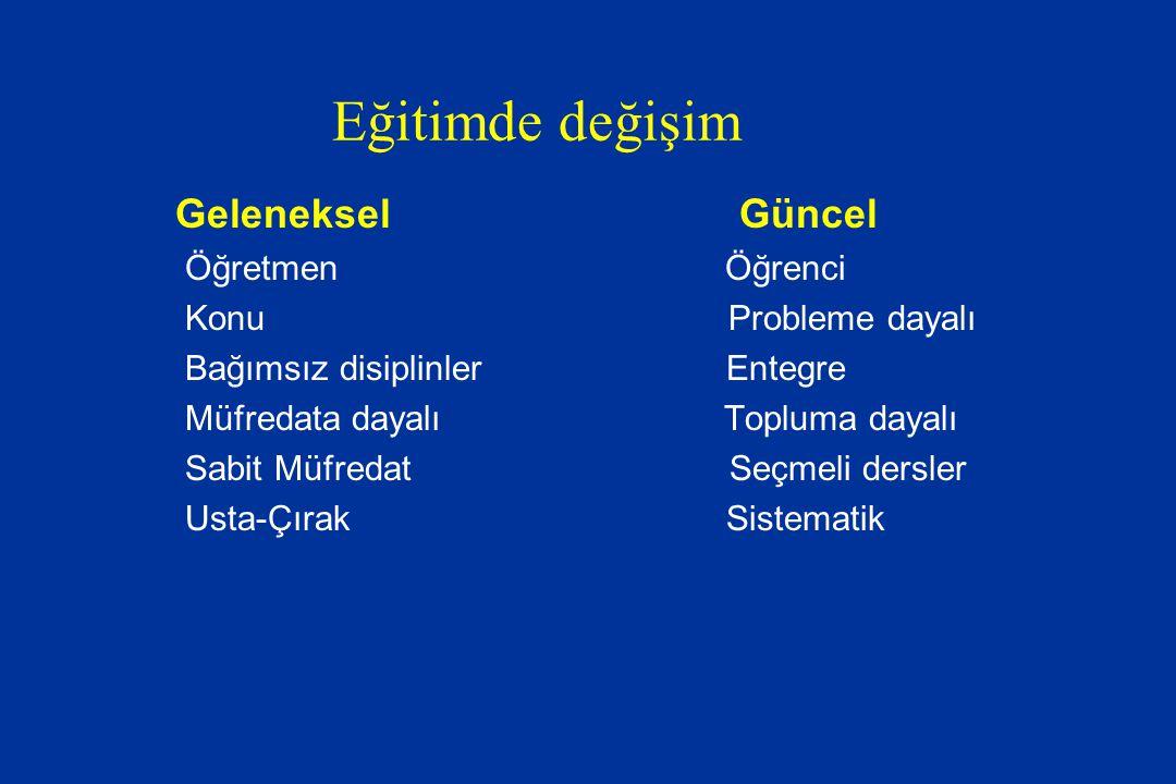 Disiplinlere Dayalı eğitim + Entegre Kurs Ör: Anatomi-Histoloji-Fizyoloji: Mide Entegre Kurs (Senaryo/Problem) 7.