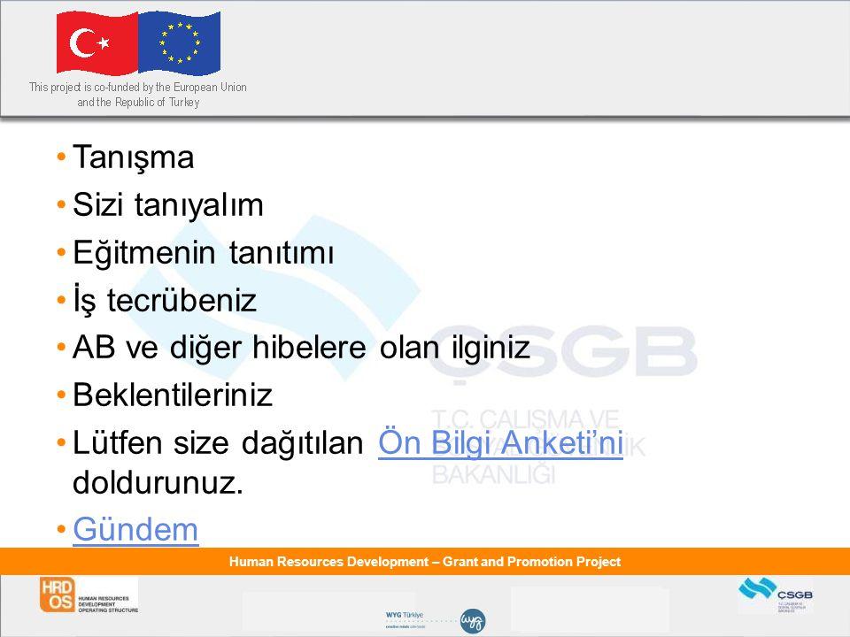 Human Resources Development – Grant and Promotion Project Avrupa Birliği ve Türkiye İlişkileri GÜMRÜK BİRLİĞİ SONRASI DÖNEM (1996-1999)  MEDA-I Kapsamında -Hibe (1996-1999) 1996-1999 yılları arasında Türkiye'ye Topluluk bütçesinden 376 milyon ECU tutarında hibe desteği sağlanmıştır.