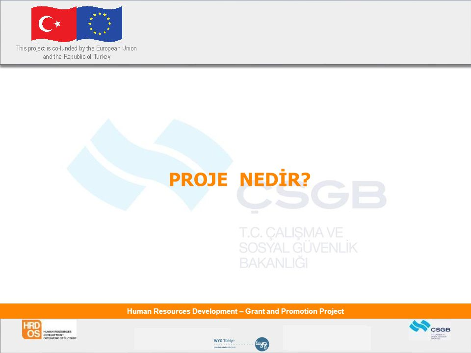 Human Resources Development – Grant and Promotion Project PROJE NEDİR?
