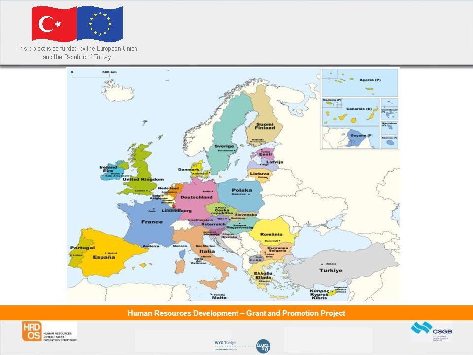 Human Resources Development – Grant and Promotion Project Hibelerin Takip Edilebileceği Websiteleri Avrupa Birliği Bakanlığı: http://www.ab.gov.tr/ Avrupa Birliği Türkiye Delegasyonu: www.avrupa.info.tr ÇSGB AB Koordinasyon Dairesi Başkanlığı: www.ikg.gov.tr Merkezi Finans ve İhale Birimi: www.cfcu.gov.trwww.cfcu.gov.tr Kalkınma Ajansları: www.kalkinma.gov.tr Europeaid: www.europa.eu.int/comm/europeaid/cgi/frame12.plwww.europa.eu.int/comm/europeaid/cgi/frame12.pl AB Fonları sayfası: http://europa.eu.int/grants/index_en.htm HOLLANDA BÜYÜKELCILIGI www.nl.org.trwww.nl.org.tr JAPONYA BÜYÜKELÇİLİĞİ www.tr.emb-japan.go.jpwww.tr.emb-japan.go.jp İNGİLTERE BÜYÜKELÇİLİĞİ www.britishembassy.org.trwww.britishembassy.org.tr KANADA BÜYÜKELÇİLİĞİ www.dfait-maeci.gc.ca/canadaeuropa/turkeywww.dfait-maeci.gc.ca/canadaeuropa/turkey AVUSTRALYA BÜYÜKELÇİLİĞİ www.embaustralia.org.trwww.embaustralia.org.tr