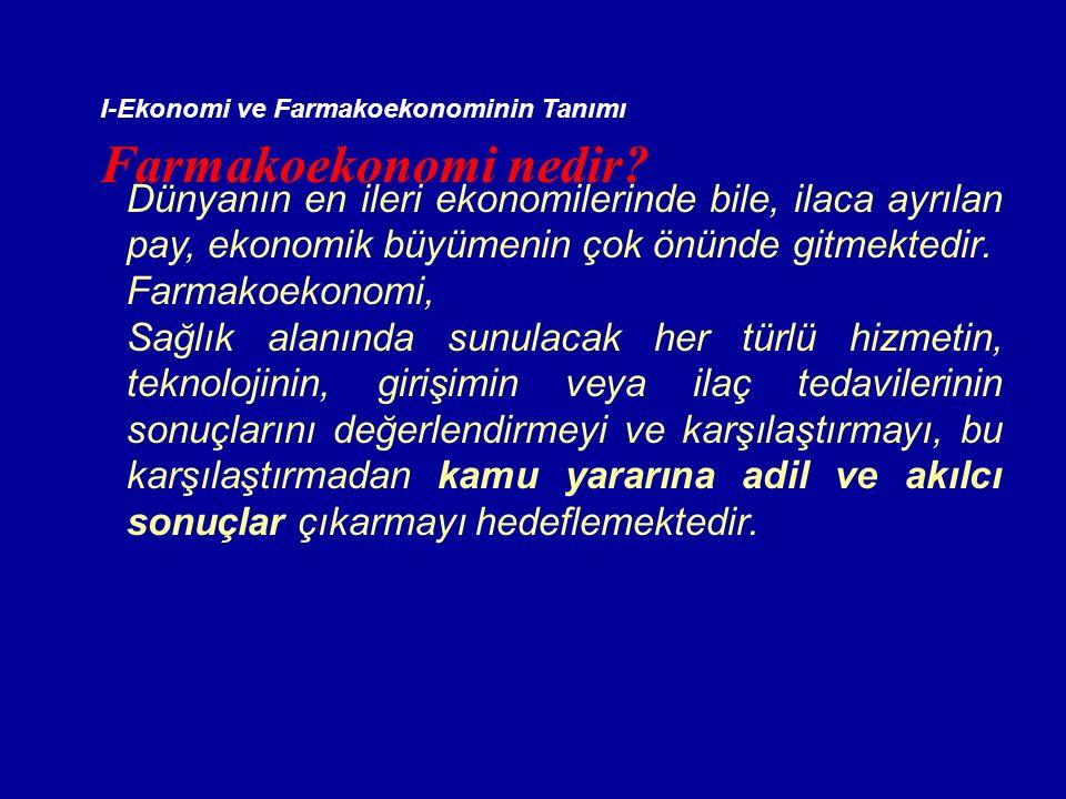 I-Ekonomi ve Farmakoekonominin Tanımı Farmakoekonomi nedir.