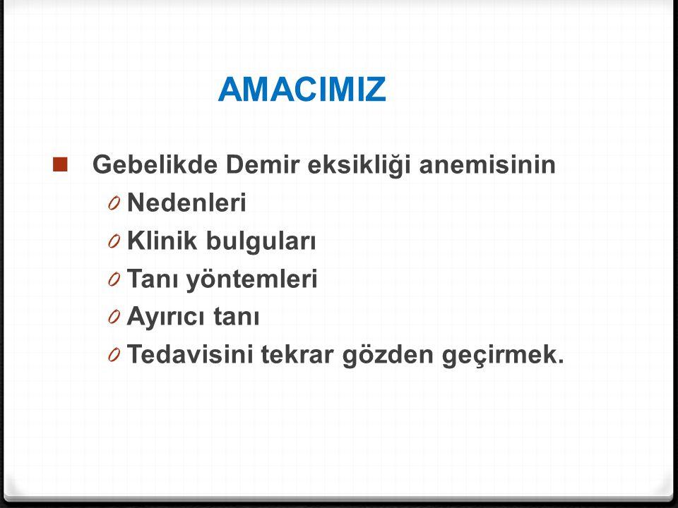 Demir kullanımının uygulanmayacağı durumlar 0 Hemokromatoz 0 Hemolitik anemiler