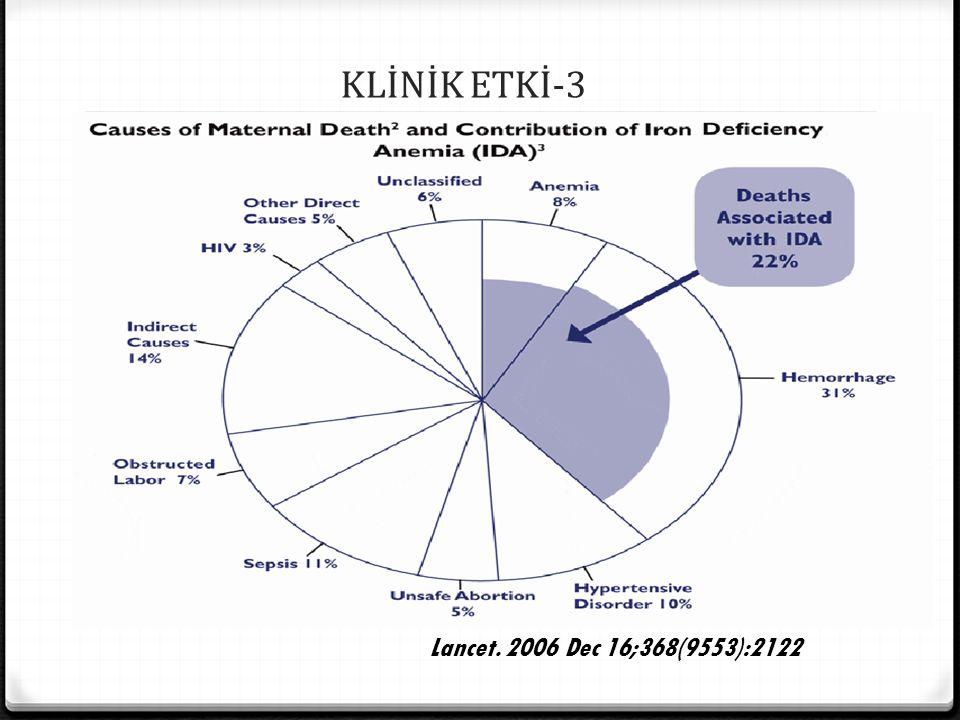 KLİNİK ETKİ-3 Lancet. 2006 Dec 16;368(9553):2122