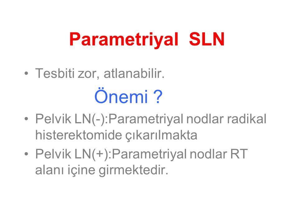 Parametriyal SLN Tesbiti zor, atlanabilir.Önemi .