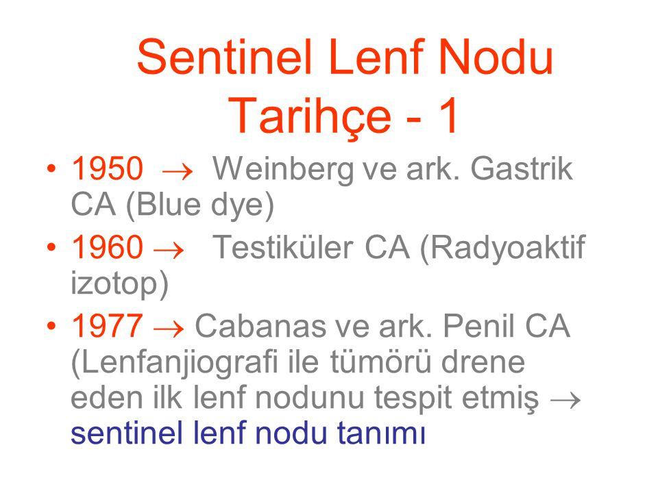 Sentinel Lenf Nodu Tarihçe - 1 1950  Weinberg ve ark.