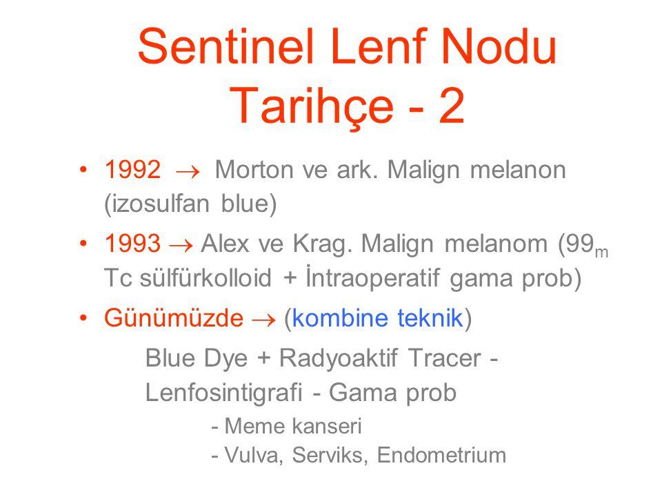 Sentinel Lenf Nodu Tarihçe - 2 1992  Morton ve ark.