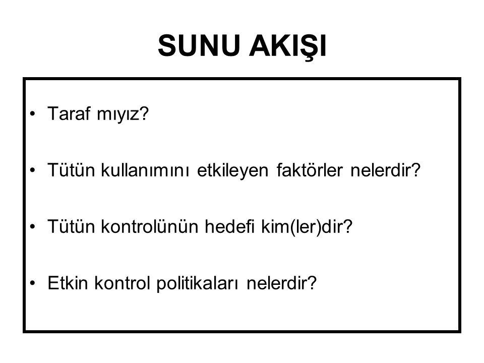 ÜCRET & TÜKETİM DSÖ, Avrupa Tütün Kontrol Raporu 2007, 2008.