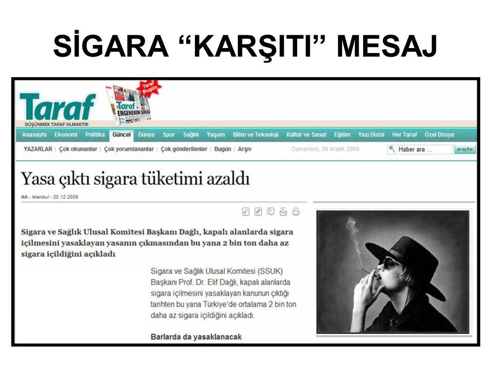 "SİGARA ""KARŞITI"" MESAJ"