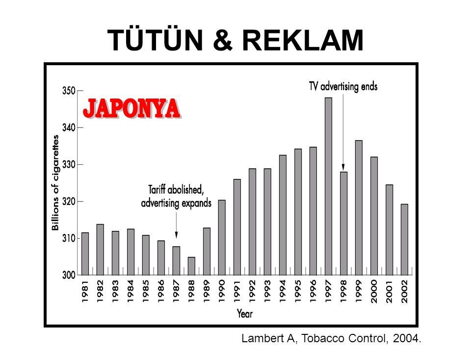 Lambert A, Tobacco Control, 2004. TÜTÜN & REKLAM