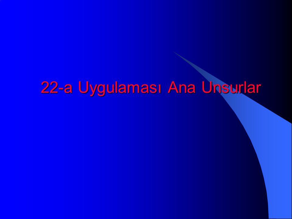 22-a Uygulaması Ana Unsurlar