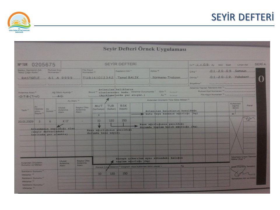 Balıkçılık ve Su Ürünleri Genel Müdürlüğü SEYİR DEFTERİ 33
