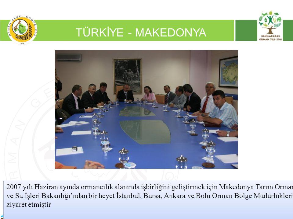 16/12/2010 Kurumsal Kimlik 2 TÜRKİYE - MAKEDONYA 2007 yılı Haziran ayında ormancılık alanında işbirliğini geliştirmek için Makedonya Tarım Orman ve Su