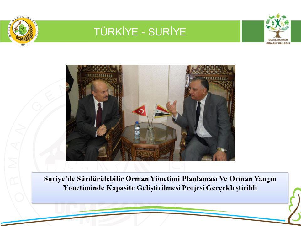 16/12/2010 Kurumsal Kimlik 2 TÜRKİYE - SURİYE Suriye'de Sürdürülebilir Orman Yönetimi Planlaması Ve Orman Yangın Yönetiminde Kapasite Geliştirilmesi P