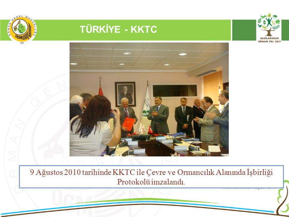 16/12/2010 Kurumsal Kimlik 2 TÜRKİYE - KKTC 9 Ağustos 2010 tarihinde KKTC ile Çevre ve Ormancılık Alanında İşbirliği Protokolü imzalandı.