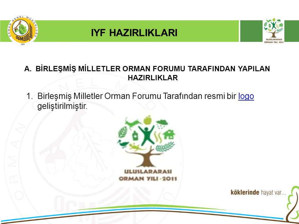 IYF HAZIRLIKLARI A.BİRLEŞMİŞ MİLLETLER ORMAN FORUMU TARAFINDAN YAPILAN HAZIRLIKLAR 1.Birleşmiş Milletler Orman Forumu Tarafından resmi bir logo gelişt