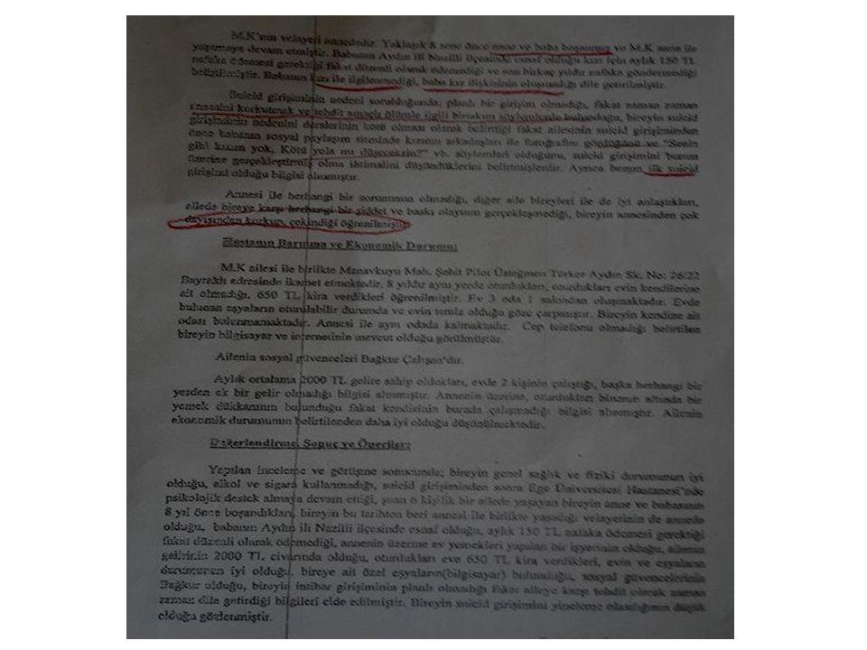 b- Okul disiplin kayıtları ve gözlemleri: Danışanın akademik durumu, devamsızlık göstergeleri, okul terki, disiplin kayıtları ve disipline konu olan davranışlar vb.