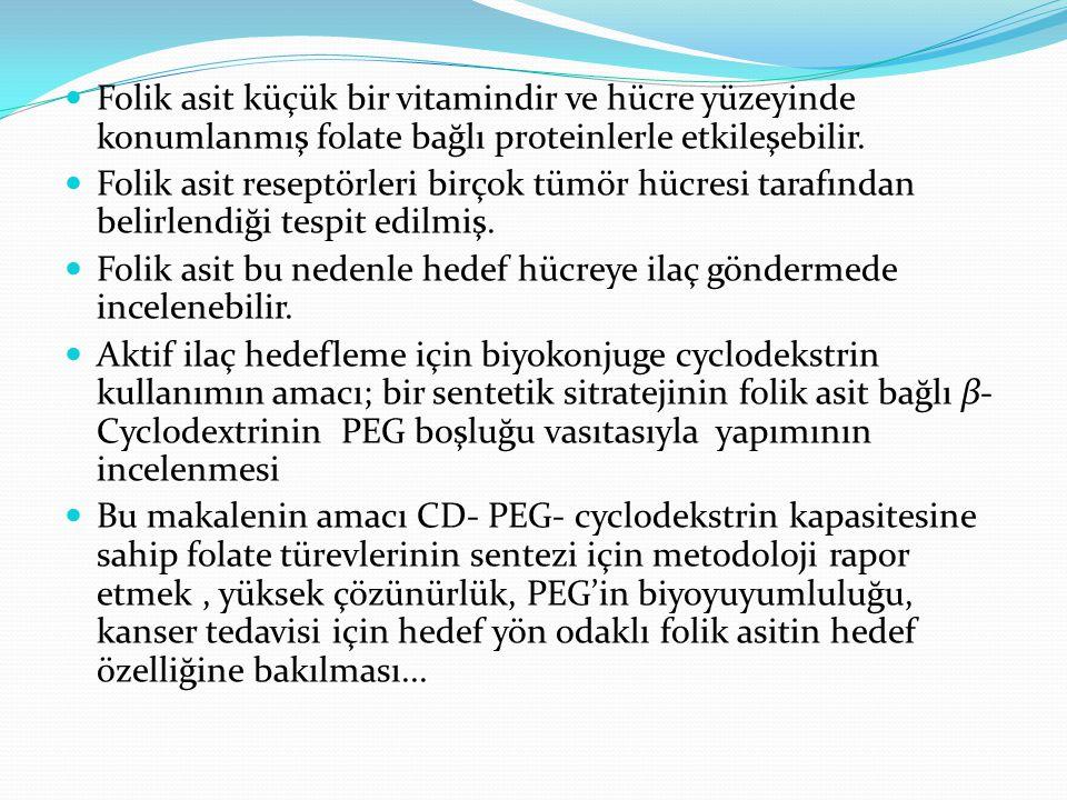 Folik asit küçük bir vitamindir ve hücre yüzeyinde konumlanmış folate bağlı proteinlerle etkileşebilir.