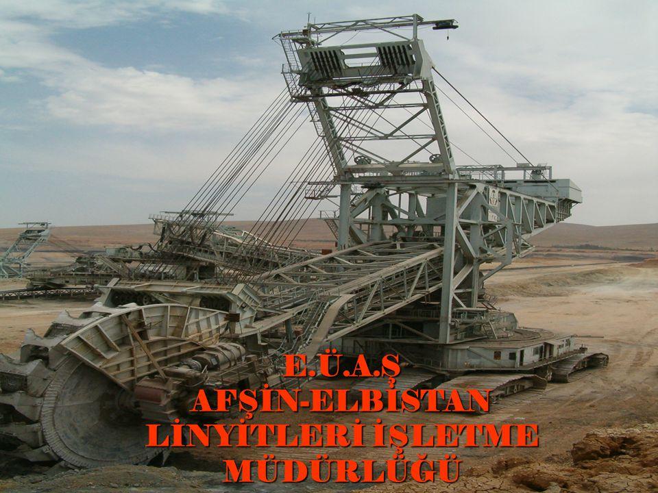 AEL'deki makinalar MakinaKapasiteAdet Döner Kepçeli Ekskavatör 3.000 m 3 /saat 6 Kül Dökücü 5.600 m 3 /saat 5 Stok Sahası Kömür Dökücü 5.600 ton/saat 2 Stok Sahası Kömür Kazıcı 3.050 ton/saat 3 Stok Sahası Kül Dökücü 2.500 ton/saat 1 Stok Sahası Kül Kazıcı 1.200 ton/saat 1 Bant Konveyör Sistemi 5.600 m 3 /saat 75 km