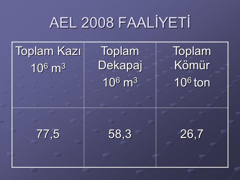 2008'de Santrallara verilen kömür Santral Verilen kömür (ton) A Santralı 10.818.961 B Santralı 15.832.663 Toplam26.651.624