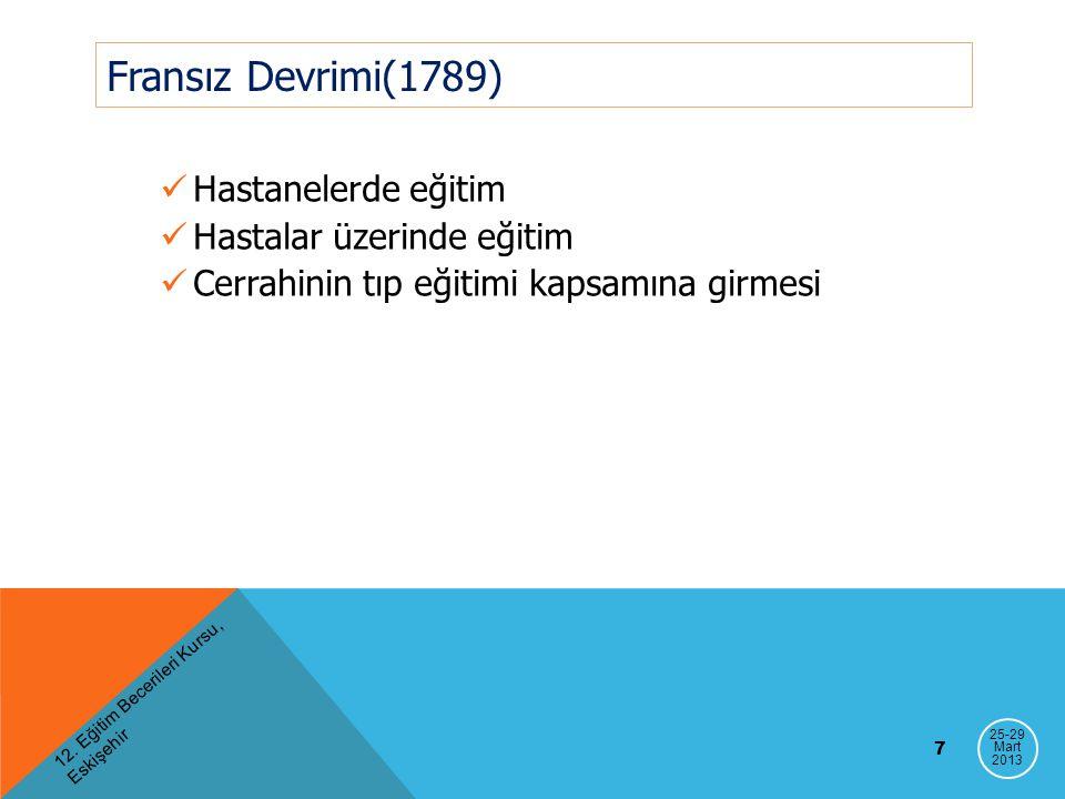 Anadolu'da tıp eğitimi Darulşifa / Darultıp Tıphane-i Amire, Cerrahane II.