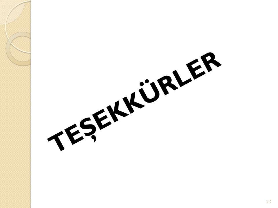 TEŞEKKÜRLER 23