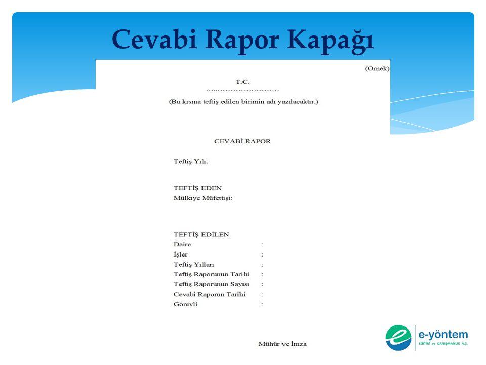 Cevabi Rapor Kapağı