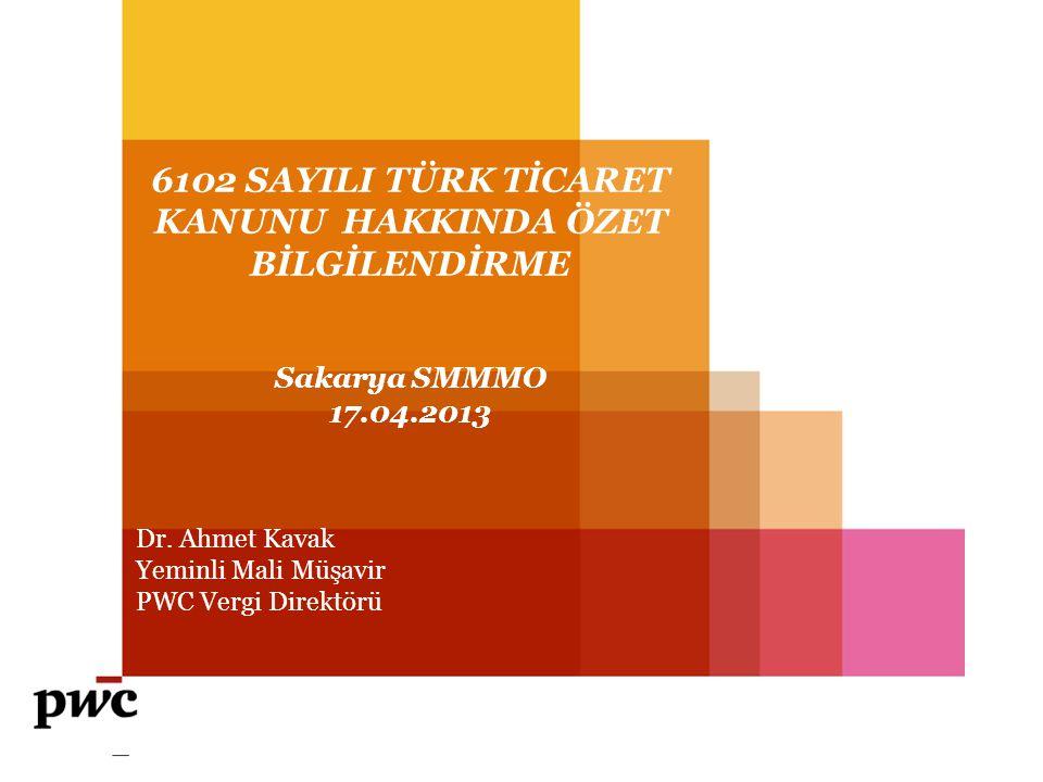 PwC TÜRK TİCARET KANUNU 1.