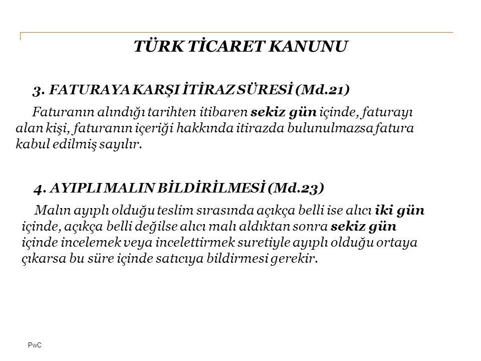 PwC TÜRK TİCARET KANUNU 5.T.