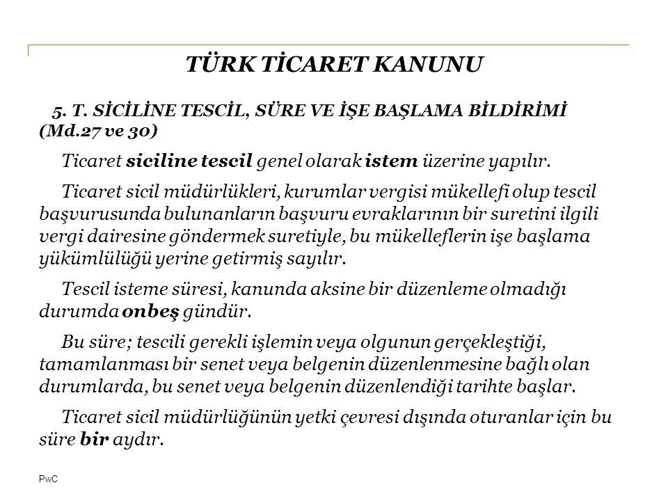 PwC TÜRK TİCARET KANUNU 6.
