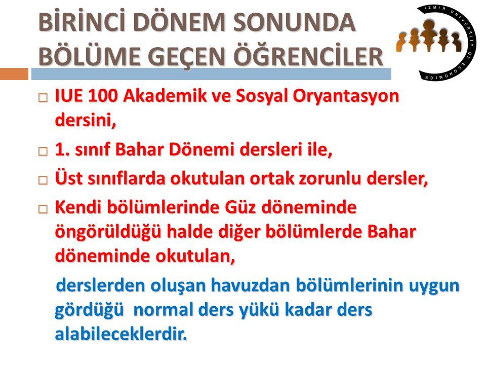 ORTAK ZORUNLU DERSLER  TURK 202 Türk Dili II,  HIST 202 Atatürk İlkeleri ve İnkılap Tarihi II,  ENG 102 İngilizcede Akademik Beceriler II,  CE 100 Bilgisayara Giriş ve Enformasyon Teknolojisi, dersleri ortak zorunlu dersler niteliğindedir.