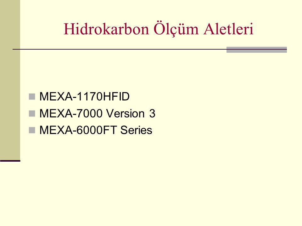 Hidrokarbon Ölçüm Aletleri MEXA-1170HFID MEXA-7000 Version 3 MEXA-6000FT Series