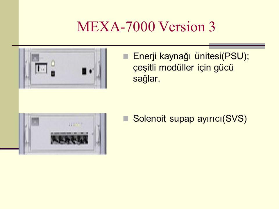 MEXA-7000 Version 3 Enerji kaynağı ünitesi(PSU); çeşitli modüller için gücü sağlar. Solenoit supap ayırıcı(SVS)