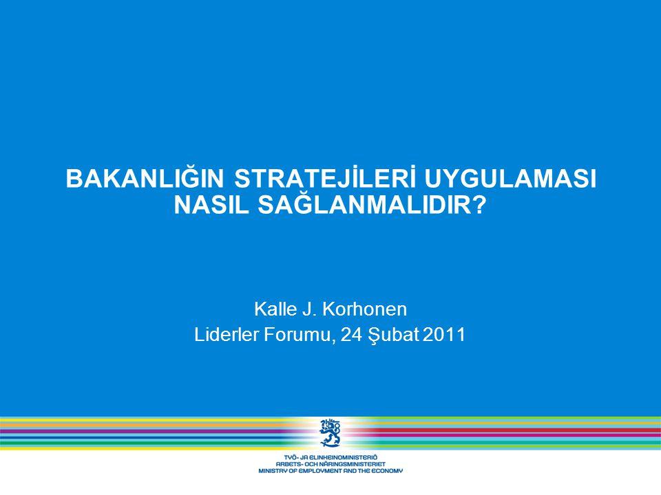Kurumsal İşleyiş Modeli Hizmet Stratejisi ve IT Stratejisi Hizmet Stratejisi  Müşteri ilişkileri stratejisi Özel müşteri ilişkileri stratejisi Kurumsal müşteri ilişkileri stratejisi– Enterprise Finland Grubun IT Stratejisi eMEE 2.0 Yönlendirme Mimari Yetkinlikler Proje yönetimi
