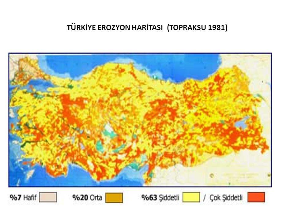 TÜRKİYE EROZYON HARİTASI (TOPRAKSU 1981)