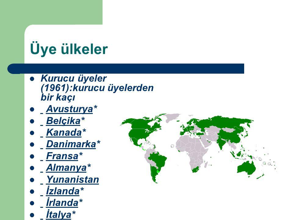 Üye ülkeler Kurucu üyeler (1961):kurucu üyelerden bir kaçı Avusturya* Avusturya Belçika* Belçika Kanada* Kanada Danimarka* Danimarka Fransa* Fransa Al