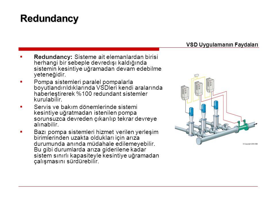 Redundancy  Redundancy: Sisteme ait elemanlardan birisi herhangi bir sebeple devredışı kaldığında sistemin kesintiye uğramadan devam edebilme yeteneğ