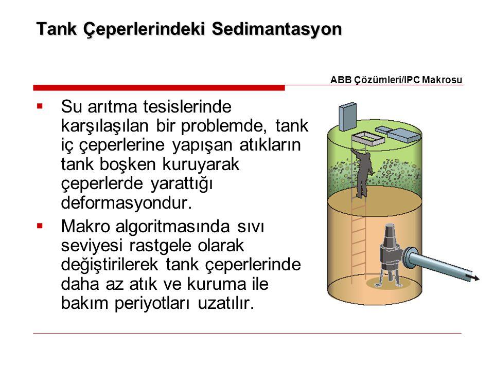 Tank Çeperlerindeki Sedimantasyon  Su arıtma tesislerinde karşılaşılan bir problemde, tank iç çeperlerine yapışan atıkların tank boşken kuruyarak çep