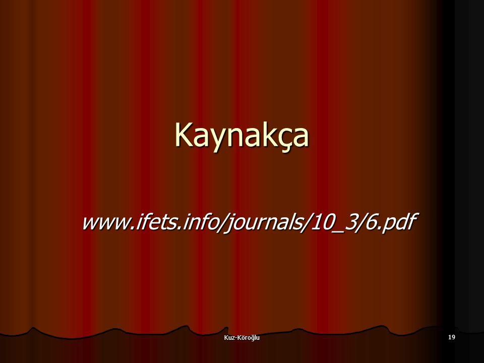 Kuz-Köroğlu 19 Kaynakça www.ifets.info/journals/10_3/6.pdf