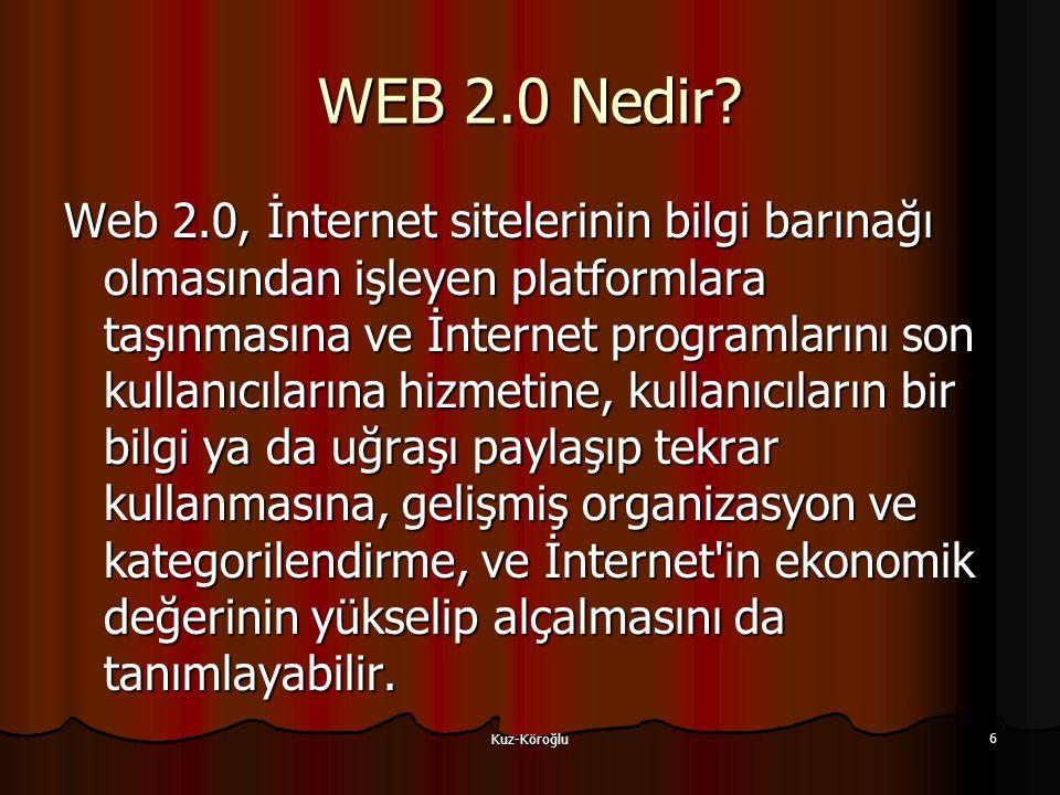 Kuz-Köroğlu 6 WEB 2.0 Nedir.