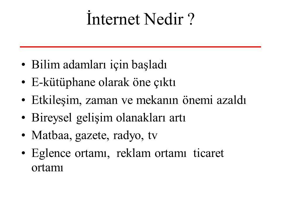 10-23 Nisan 2006 İnternet, Bilişim ve Bilgi Toplumu 5 İnterneti Nasıl Algılamalı.