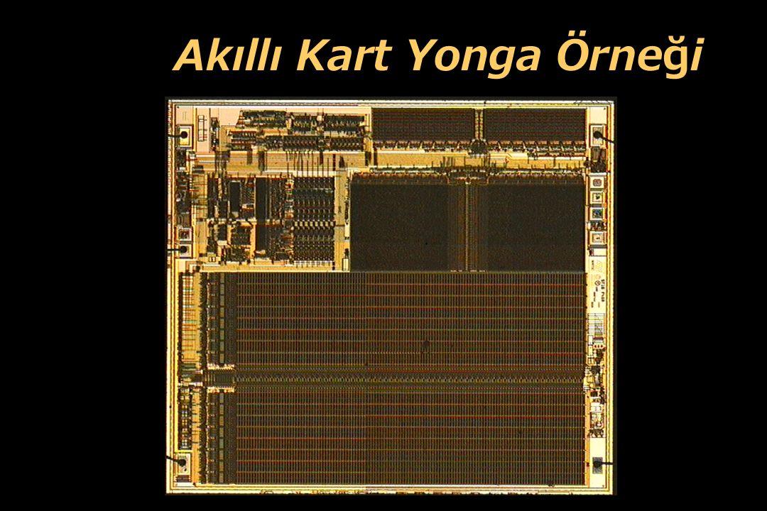 21 Akıllı Kart Bileşenleri CPU RAM test entegresi ROM EEPROM seri I/O arayüzü güvenlik entegresi Veri Yolu Veri Yolu: - yonga elemanları arasındaki ba